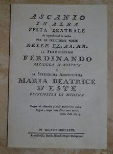 ASCANIO-IN-ALBA-FESTA-TEATRALE-FERDINANDO-MARIA-BEATRICE-D-039-ESTE-MODENA-GK