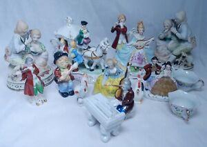 Occupied Japan Vintage Figurines Victorian People Musicians Porcelain Collection Ebay