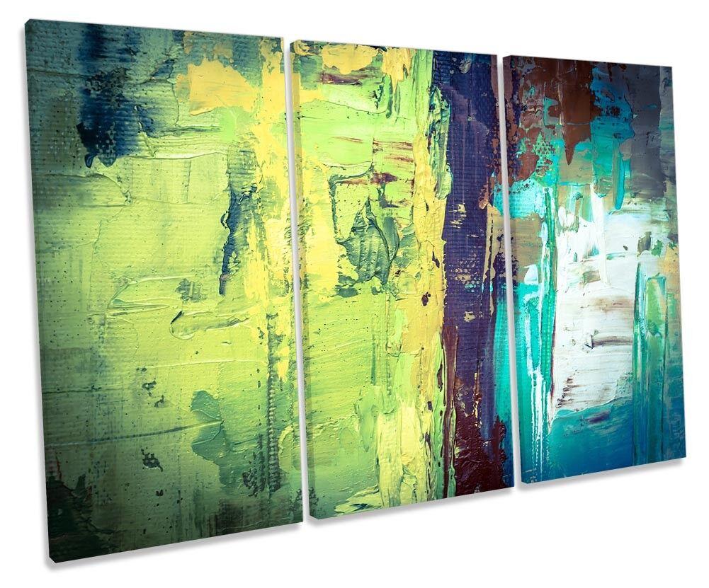 ASTRATTO GRUNGE verde incorniciato Treble stampa art. art. art. a muro 29df53