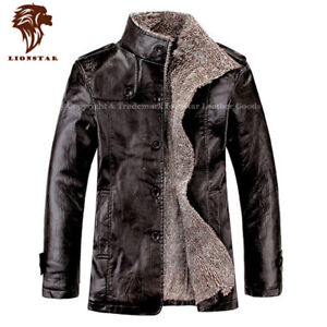 Lionstar Iconic Top Quality Men Real Leather Extra Warm Winter Jacket with Fur