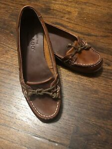 Details About Sebago New Brown Leather Boat Shoes Womens 6 36 Non Marking Rubber Sole