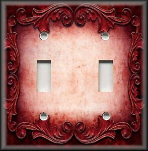 Image is loading Metal-Light-Switch-Plate-Cover-Victorian-Gothic-Decor- & Metal Light Switch Plate Cover - Victorian Gothic Decor - Ornate ...