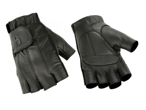 Men's Affordable Gel Padded Palm Fingerless Motorcycle, Driving Riding Glove