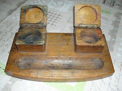 Bescheiden Altes Tintenfass Schreibtisch Garnitur-set Chinesische Aromen Besitzen