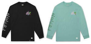 HUF-Worldwide-Smokers-Lounge-Valet-Long-Sleeve-Tee-Men-039-s-T-Shirt-TS00554