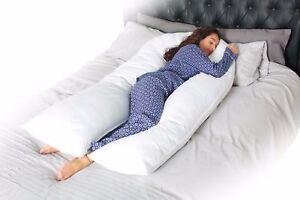 Extra-Fill-Comfort-U-Pillow-Body-Back-Support-Nursing-Maternity-Pregnancy-9-FT