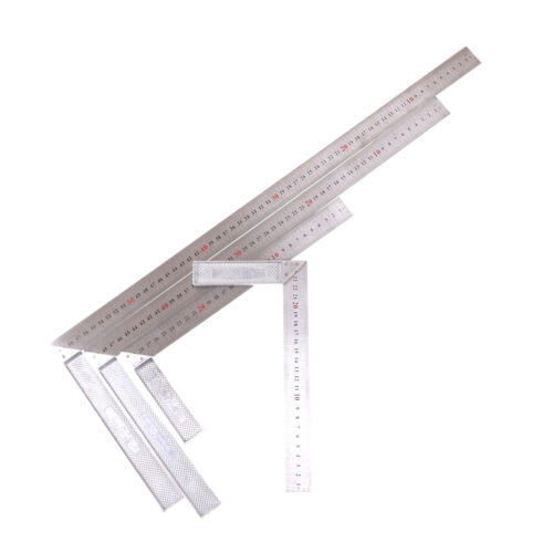 Stainless Steel L-Square Angle Ruler Woodworking Measuring Tool 25//30//50//60cm HF