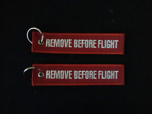 Cloth-Keyring-RBF-RBF-Remove-Before-Flight-on-both-sides