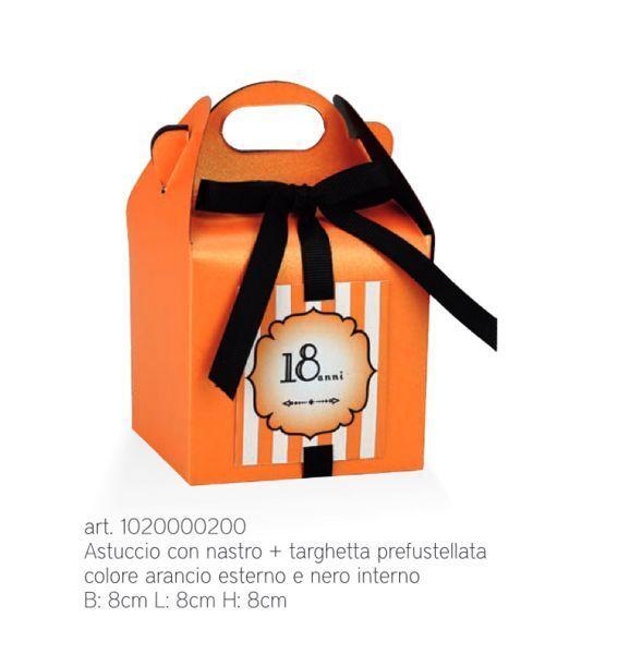 20 PEZZI SCRIGNO ARANCIONE NERO perlescente scatola scatola scatola portaconfetti 8X8X8 044R 6eeb7c