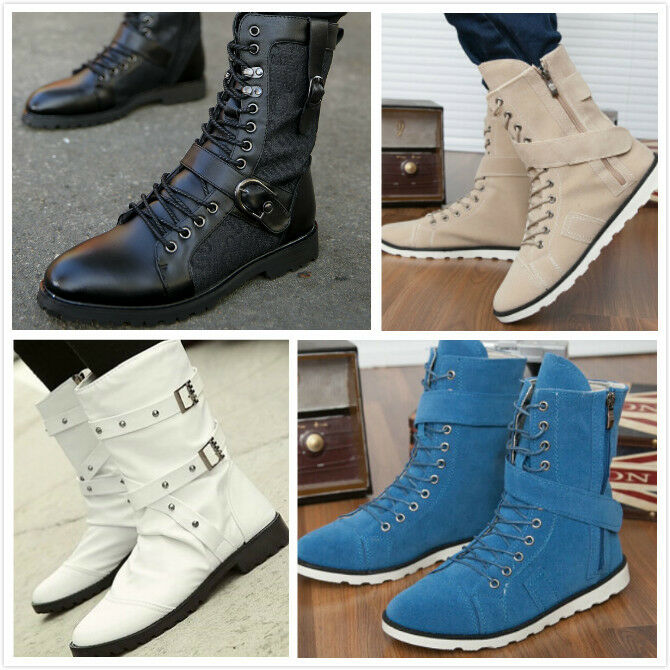 Women's Punk Lace Up Ankle Boots Oxfords Army Ridding Military Combat Hot Shoes