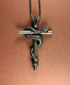Serapis necklace serpent cross caduceus snake alchemy gnosticism image is loading serapis necklace serpent cross caduceus snake alchemy gnosticism mozeypictures Image collections