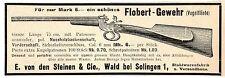 Vogelflinte E. von den Steinen Wald bei Solingen Flobert- Gewehr Annonce 1907