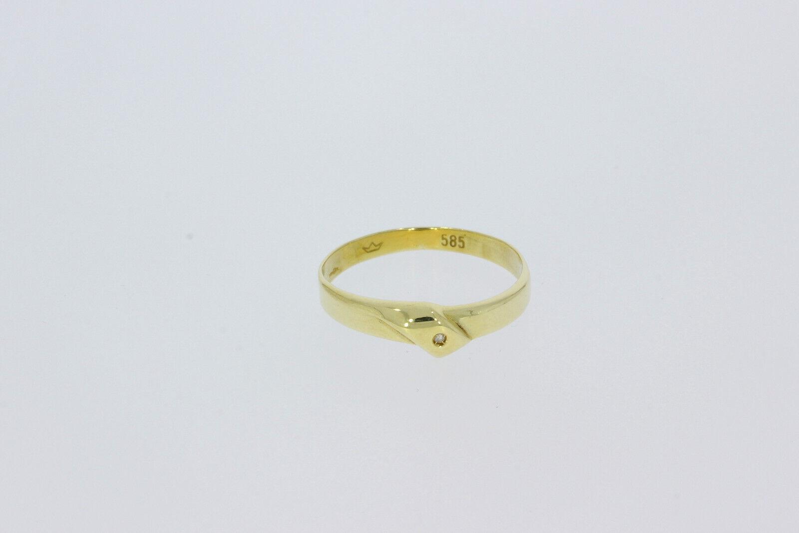 9111-585er  yellowgoldring Ringgroße 59,5 Breit 5,5 mm Gewicht 1,5 Gramm