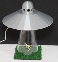Ufo Alien Abduction Lamp Bedroom Silver Spaceship Light Colored Lighting Option