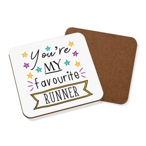 Vous êtes mon préféré Runner Stars Coaster Drinks Tapis drôle Best Running Marathon