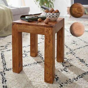 Dettagli su FineBuy laterale in legno massello 35x35cm soggiorno Tavolo di  colonica da caffè