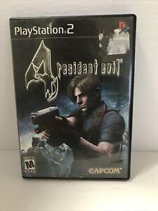 Resident Evil 4 Black Label Complete Case & Manual PlayStation 2 PS2 Tested