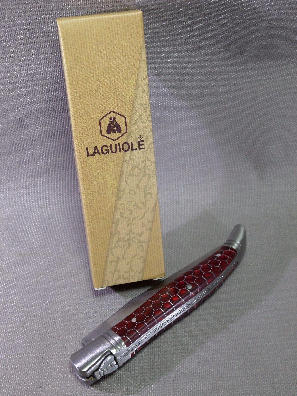 Noble aspect-NOUVEAU LAGUIOLE couteau de poche-Abeilles ajourées aspect-NOUVEAU Noble & NEUF dans sa boîte - 268382 bbb359