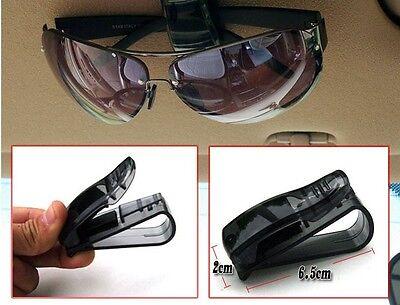 1PC Car Auto Glasses Sunglasses Card Visor Pen Business Card Clip Black Holder