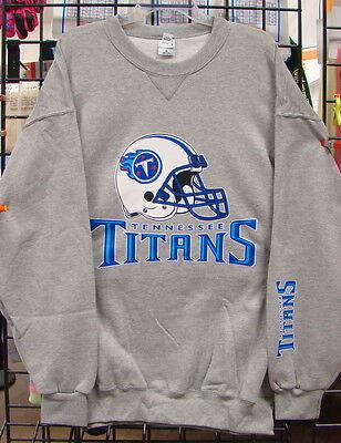 M 2XL L 4XL S 3XL Tennessee TITANS: Gray Crew Neck Sweatshirt 5XL XL
