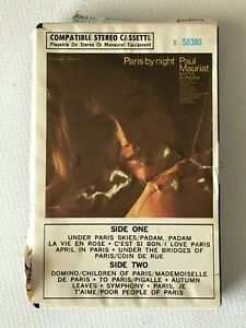 Paul Mauriat Paris by night Ampex  58380 cassette clam case paper label 1961