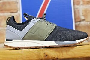 New-Balance-Men-039-s-Shoes-247-Luxe-Black-with-Green-Comfort-and-Fashion-Statement