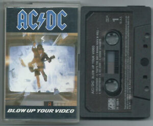 CASSETTE TAPE AC/DC Blow up your video (Atlantic 88 ITALY) 1st ps hard rock NM!