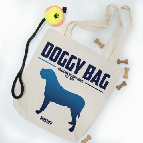 Personalised Mastiff Dog Puppy Tote Shopping Grocery Treat Toy Bag Gift