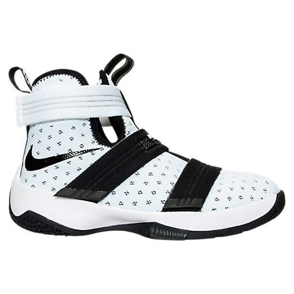 6b1300ca1ec4 ... france nike lebron soldier 10 gs kids 845121 100 white black basketball  shoes size 7y ebay