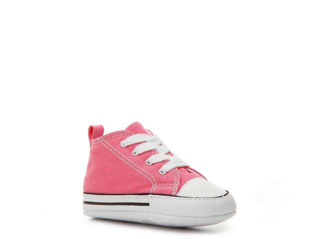 Converse Star Hi Top Pink White Infant Toddler Boys Girls Shoes Sizes