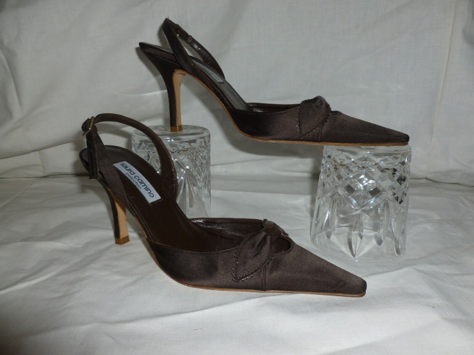 LAURA CAMINO Marron sling back Chaussures UK 3.5 EU 36