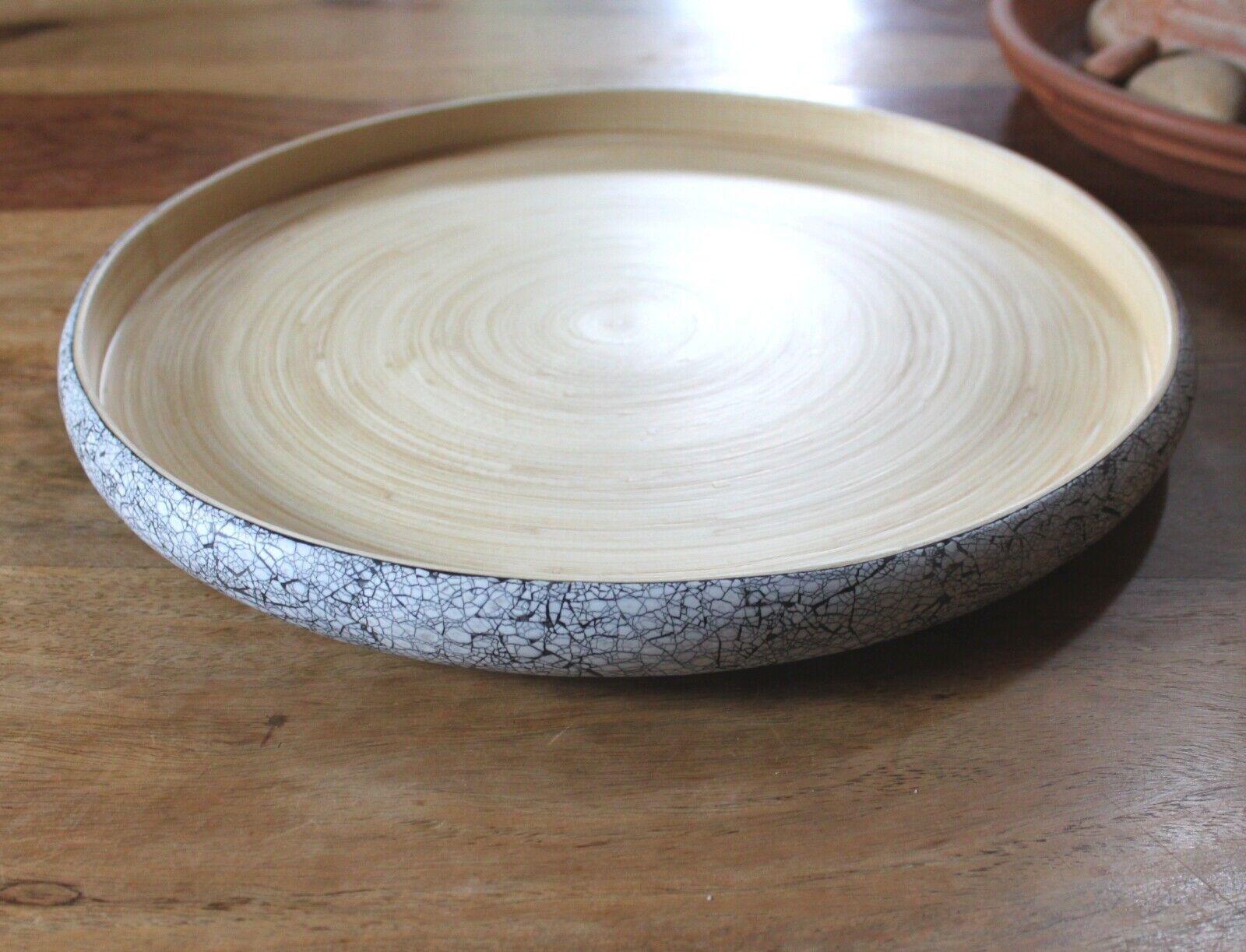 Bibol Bamboo Tray Ø 35 cm Garden Tray Eggs Bowl Handmade sustainable eco