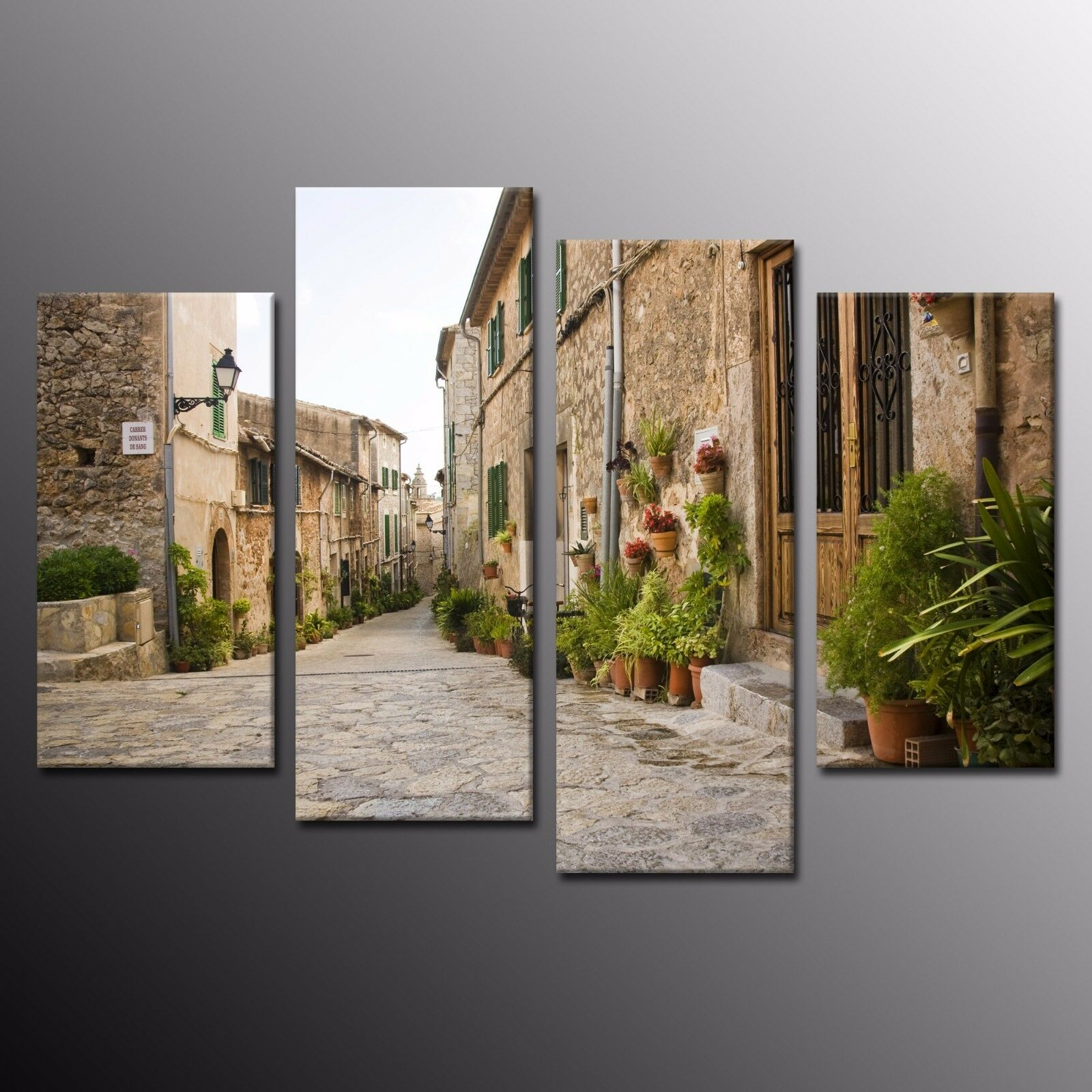 FRAMED Modern Wall Art accueil Decor Alley Photo toile impressions Ready to Hang-4pcs