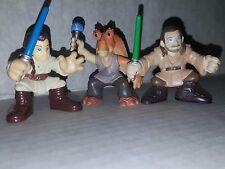 Star Wars Galactic Heroes Qui-Gon Obi Wan & Jar Jar Action Figures Hasbro