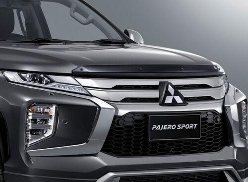 GLOSS BLACK BUG GUARD Insect hood SHIELD FIT Mitsubishi New Pajero Sport 2019