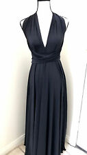 NEW Women's Convertible Maxi Dress Formal Evening Black Long size Fit 0-16 NWT