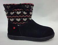 Ugg Kids/girls I Heart Slouchy Mini Fair Isle Boots 1010353 Black Size 6