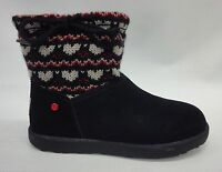 Ugg Kids/girls I Heart Slouchy Mini Fair Isle Boots 1010353 Black Size 6