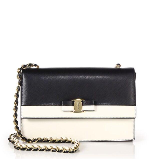 NWT Salvatore Ferragamo  1290 Ginny Leather Crossbody Shoulder Bag  w Box eafae95a95646