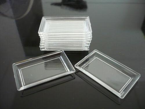 10 Empty Rectangle Tray Acrylic Plastic Dolls House Miniatures Supply Deco-7