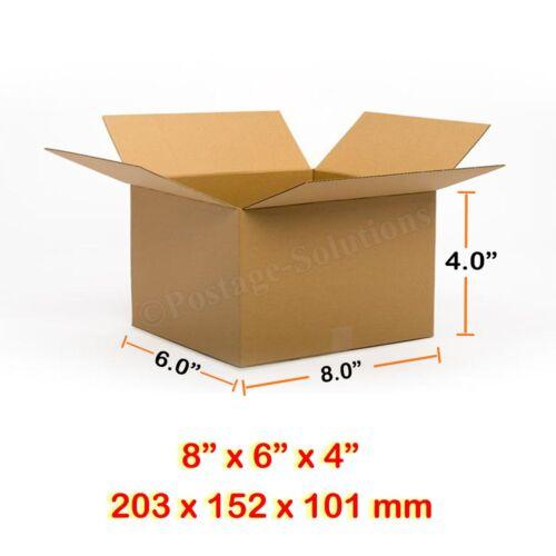 """SINGOLO Muro Postale Mailing scatole di cartone 8/"""" x 6/"""" x 4/"""" più economico su  sempre"""
