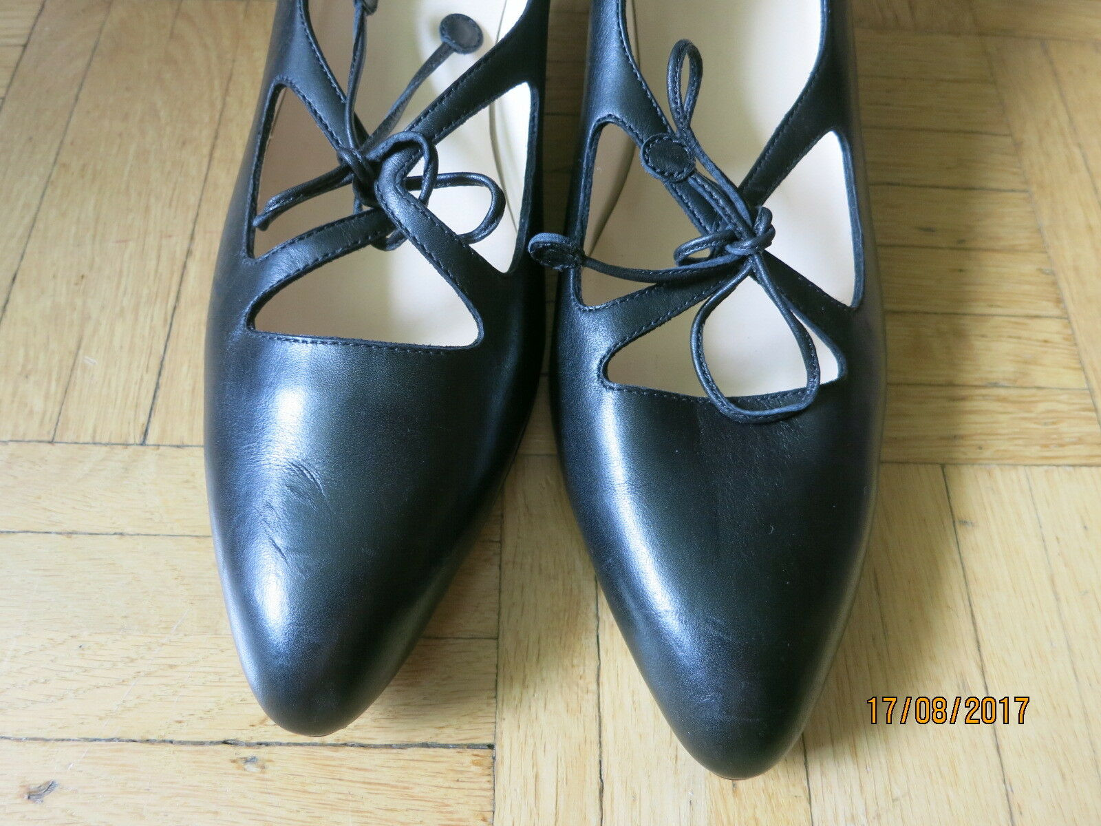 SELVE Handmade Gr. Loafers, Mokassins Halbschuhe Schwarz Gr. Handmade 38,5 Echtleder NEU eb02b8