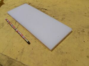 "2 pc Lot of NATURAL UHMW BAR Machinable Plastic Flat Sheet Stock 1-1//2 x 2/"" x 6/"""