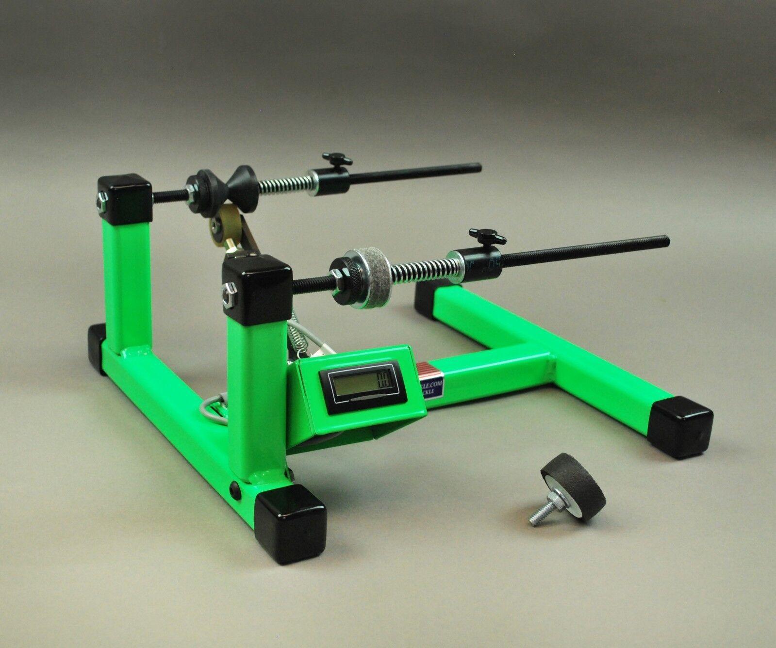 Super Spooler Line HolderWinder  Digital Line Counter in verde