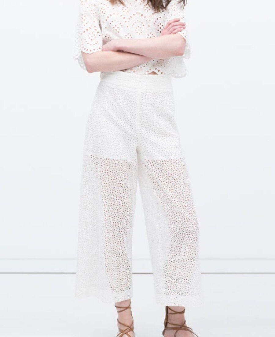 Zara cut out culottes white xs us 2