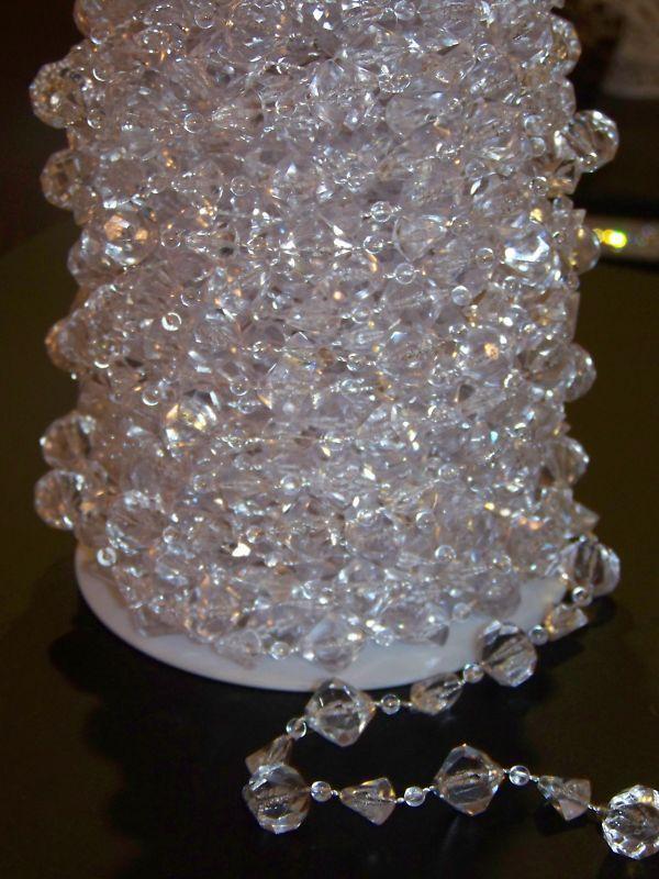 60ft Iridescent Large Acrylic Crystal Garland Beads