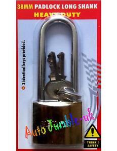 "Padlock 30mm Rhombic Padlock Padbolt Security Set 4/"" PADBOLT 3 Keys"