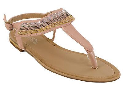 Mujeres Damas Hebilla Punta Plana De Verano Playa Sandalias Zapatos Tallas causal