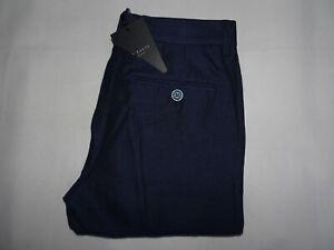 BNWT-Ted-Baker-para-hombre-Pantalones-Pantalones-Azul-Pierna-Delgada-Talla-W28-L32-Cintura-28-034