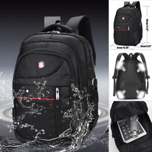 Men Nylon Backpack Waterproof Laptop School Bag Satchel Travel Handbag  K